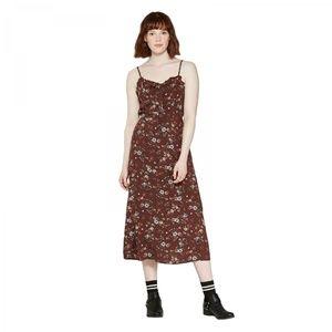 NWT Wild Fable Midi Slip Dress Large Burgundy